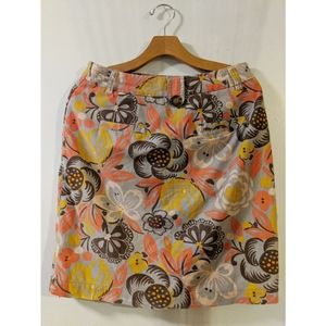 Boden Corduroy Fall Color Pencil Skirt